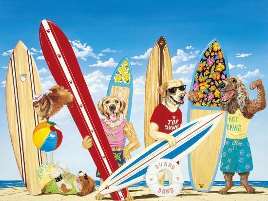 K-9 Surf Club-Scott Westmoreland-Art Print
