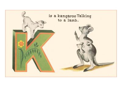 K is a Kangaroo--Art Print