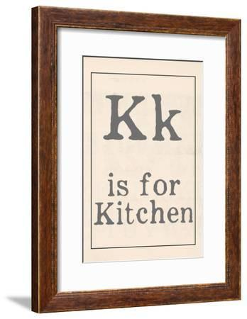 K is for Kitchen-Katie Doucette-Framed Art Print