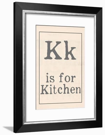K is for Kitchen-Katie Doucette-Framed Art Print