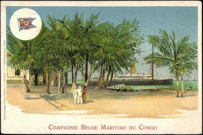K?nstler Compagnie Belge Maritime Du Congo, Vapeur--Giclee Print