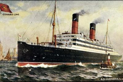 K?nstler Cunard Line, S.S. Carmania, Dampfschiff--Giclee Print