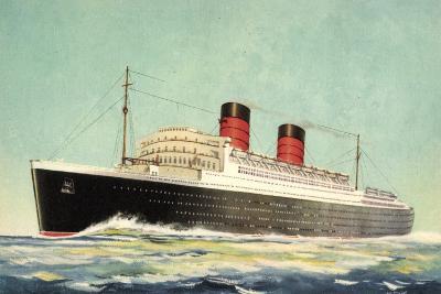 K?nstler Cunard White Star, Steamer Mauretania--Giclee Print