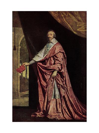 K?nstler Kardinal Jean De Richelieu in Gewand--Giclee Print