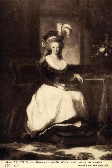 K?nstler Lebrun, Marie Antoinette D'Autriche, Reine--Giclee Print