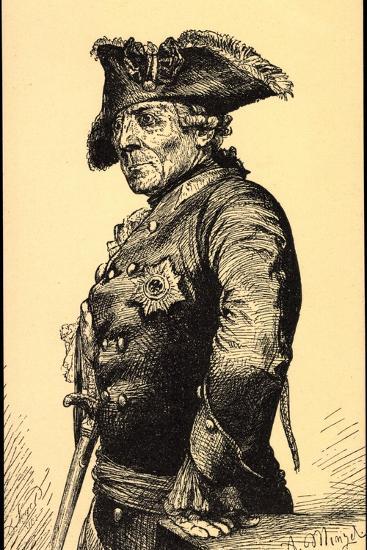 K?nstler Menzel, A., Friedrich Der Gro?e V Preu?en--Giclee Print