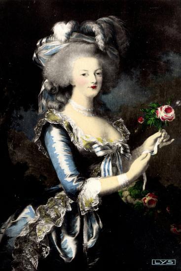 K?nstler Portrait Von Marie Antoinette ? La Rose--Giclee Print