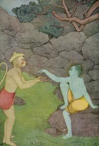 Rama Put His Trust in the Ape Hanuman (Son of the Wind God) to Find His Abducted Wife Sita by K. Venkatappa