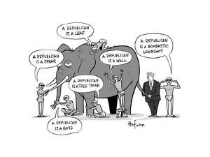 Blind Republicans - Cartoon by Kaamran Hafeez