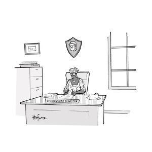Environment Minister - Cartoon by Kaamran Hafeez
