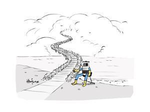 Hitch Hiking Robot - Cartoon by Kaamran Hafeez