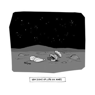 New Signs of Life on Mars - Cartoon by Kaamran Hafeez