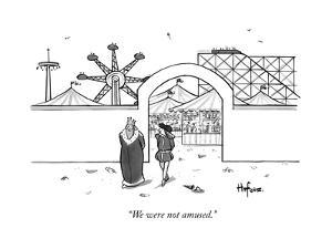 """We were not amused."" - New Yorker Cartoon by Kaamran Hafeez"