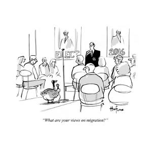 """""""What are your views on migration?"""" - Cartoon by Kaamran Hafeez"""