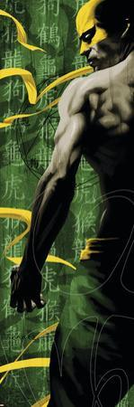 The Immortal Iron Fist No.12 Cover: Iron Fist Swinging