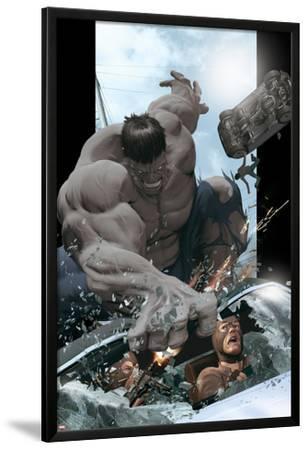 Ultimate Comics Ultimates No.8 Cover: Hulk Smashing by Kaare Andrews