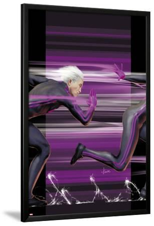 Ultimate Comics X-Men No.4 Cover: Quicksilver Running by Kaare Andrews