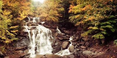 Kaaterskill Falls Stream Through the Forest of the Catskill Mountains, New York State, USA--Photographic Print