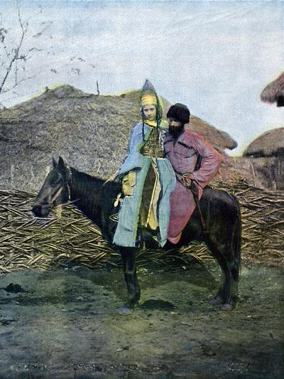 Kabardin Couple on a Journey, C1890--Giclee Print