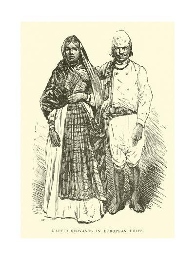 Kaffir Servants in European Dress--Giclee Print