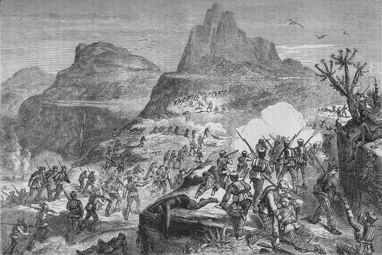'Kaffir War - Attacking a Native Position', c1880-Unknown-Giclee Print