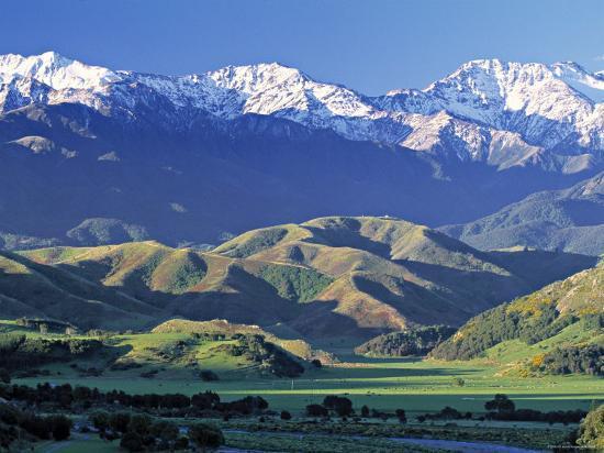 Kaikoura Range, South Island, New Zealand-Doug Pearson-Photographic Print