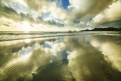 Kailua Beach Gold Streaks-Cameron Brooks-Photographic Print