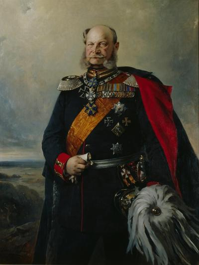 Kaiser Wilhelm I in the Uniform of the First Regiment of Foot Guards, 1879-Paul Bulow-Giclee Print