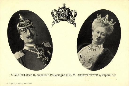 Kaiser Wilhelm Ii, Auguste Victoria, Empereur--Giclee Print