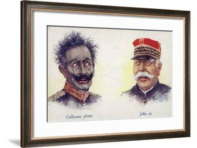 Kaiser Wilhelm II Crying and Marshal Joffre Laughing--Framed Giclee Print