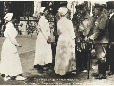 Kaiser Wilhelm II in Constantinople During WWI--Photographic Print