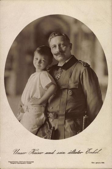 Kaiser Wilhelm II Mit Seinem Ältesten Enkel,Portrait--Giclee Print