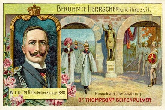 Kaiser Wilhelm II Visiting the Saalburg, Germany--Giclee Print