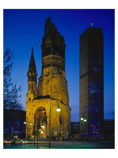 Kaiser-Wilhelm Memorial Church in Berlin, Germany--Art Print