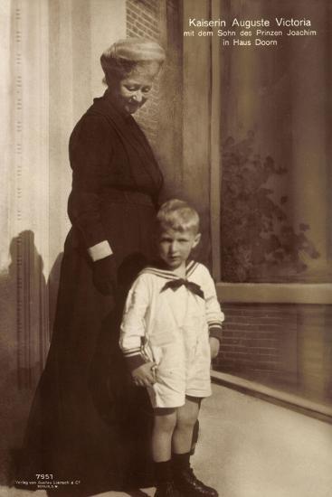 Kaiserin Auguste Viktoria, Sohn Des Prinzen Joachim--Giclee Print