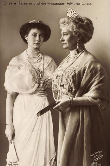 Kaiserin Auguste Viktoria, Viktoria Luise, Liersch--Giclee Print