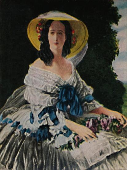 'Kaiserin Eugenie 1826-1920. - Gemälde von Winterhalter', 1934-Unknown-Giclee Print