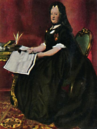 'Kaiserin Maria Therestia 1717-1780. - Gemälde von Maron', 1934-Unknown-Giclee Print