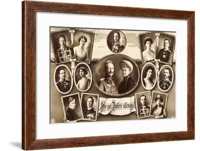 Kaiserpaar, Wilhelm II, Prinzen, Gattinnen, Npg 4936--Framed Giclee Print