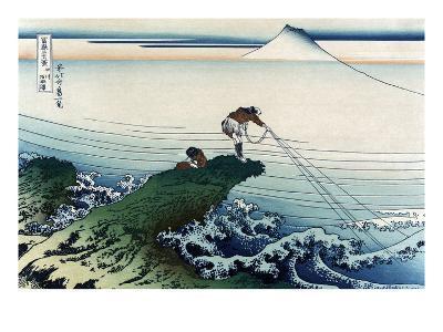 Kajikazawa in Kai Province-Katsushika Hokusai-Art Print