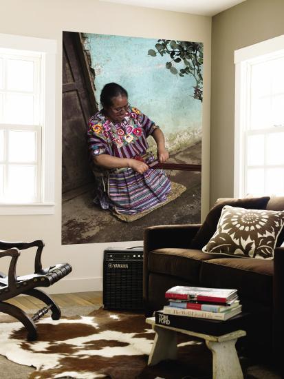Kakchiquel Woman Weaving-Diego Lezama-Wall Mural