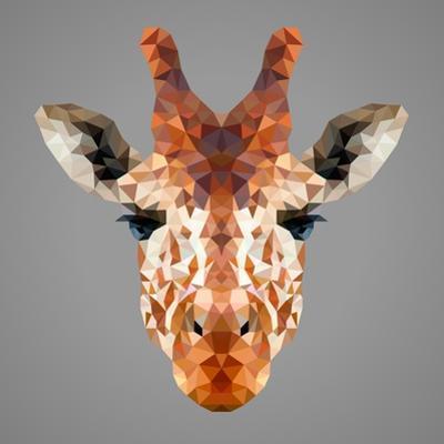 Giraffe Low Poly Portrait by kakmyc