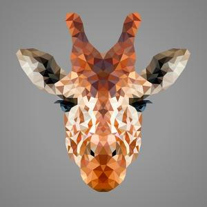 Giraffe Low Poly Portrait by kakmyc