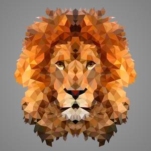Lion Low Poly Portrait by kakmyc