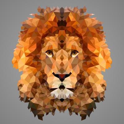 Lion Low Poly Portrait
