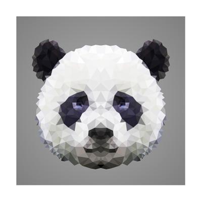 Panda Low Poly Portrait by kakmyc