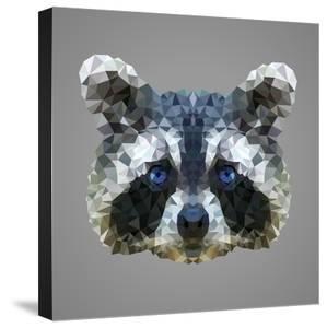 Raccoon Low Poly Portrait by kakmyc