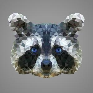 Raccoon Low Poly Portrait by kakmyc