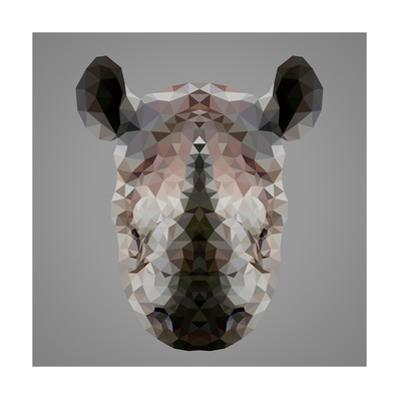 Rhinoceros Low Poly Portrait by kakmyc