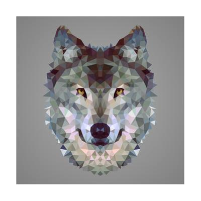 Wolf Low Poly Portrait by kakmyc
